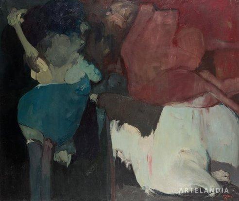 Juan Barjola - Composición ¿Qué ha pasado?