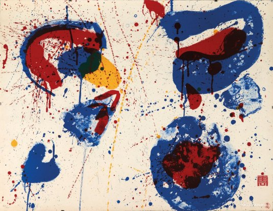 Sam Francis - Hurrah for the red, white and blue (SF-17)