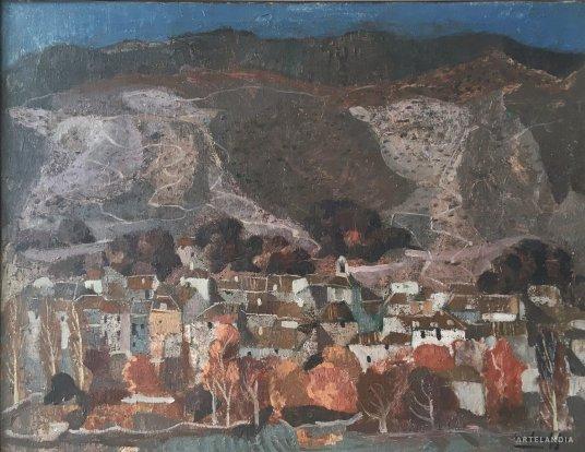 Agustín Redondela - Vista de pueblo, ciudad dormida