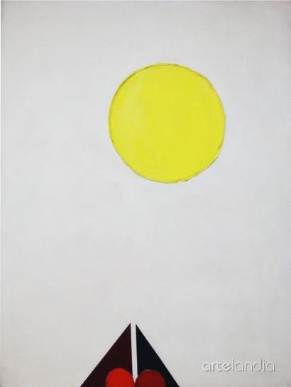 Luis Feito - Círculo amarillo.