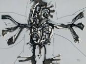 Antonio Saura - Crucifixión