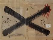 Antoni Tapies - Dibuix-dedicatoria