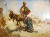 José Navarro Llorens - Gitanos con burro