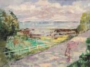 Emilio Grau Sala - La playa de Honfleur