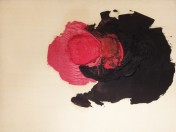 Luis Feito - Blanco, negro y rojo
