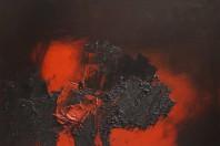 Luis Feito - Untitled. Rojo y negro
