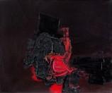 Luis Feito - Rojo sobre negro